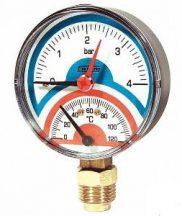 Termomanometar 0-120°C/4 bara REGULUS